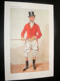 Vanity Fair Print 1909 Alfred James Curnick, Fox Hunter
